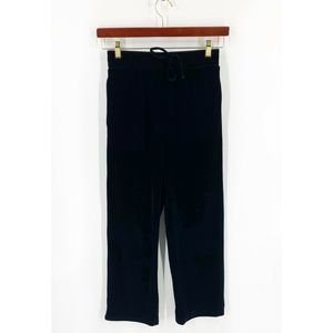 Elodie Velour Pants Size Small Black Solid NEW